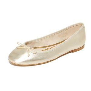 Sam Edelman Finley Ballet Flats Gold Size 8.5